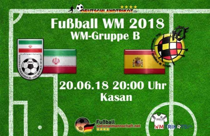 Fußball heute: Iran gegen Spanien um 20 Uhr im Ersten.