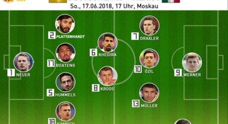 Aufstellung heute: Länderspiel Deutschland gegen Mexiko