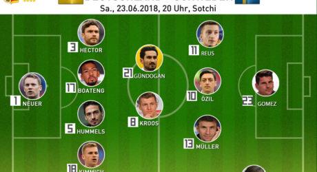 Länderspiel morgen * Wann spielt Deutschland gegen Schweden?