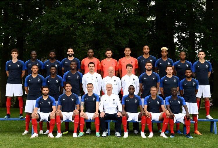 Frankreichs WM-Kader für den FIFA World Cup 2018 in Russia. / AFP PHOTO / FRANCK FIFE