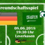 Fussball heute: Die Aufstellungen Deutschland - Saudi-Arabien