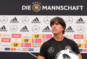 Bundestrainer Jogi Löw bei der Pressekonferenz / AFP PHOTO / MIGUEL MEDINA