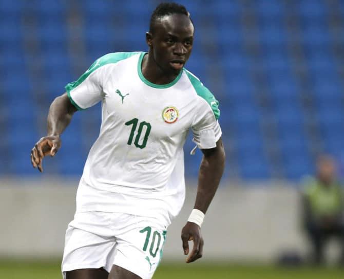 Fußball heute am 19.6. * Wer spielt heute? * WM 2018 Vorrunde: Senegal's Sadio Mane greift heute gegen die Polen an. / AFP PHOTO / CHARLY TRIBALLEAU