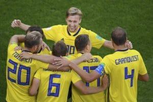 Schweden zieht durch ein 3:0 über Mexiko ins WM-Achtelfinale ein und schießt Deutschland im Fernduell raus. / AFP PHOTO / JORGE GUERRERO
