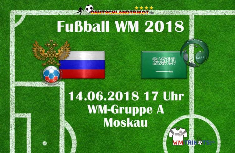 Das WM Eröffnungsspiel 2018 zwischen Russland und Saudi Arabien.