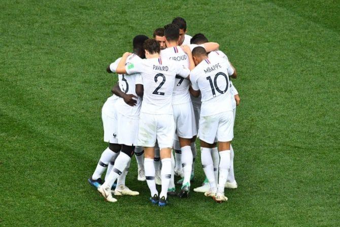 Frankreich gewinnt mit 2:0 gegen Uruguay und steht nun im WM-Halbfinale 2018. / AFP PHOTO / Johannes EISELE