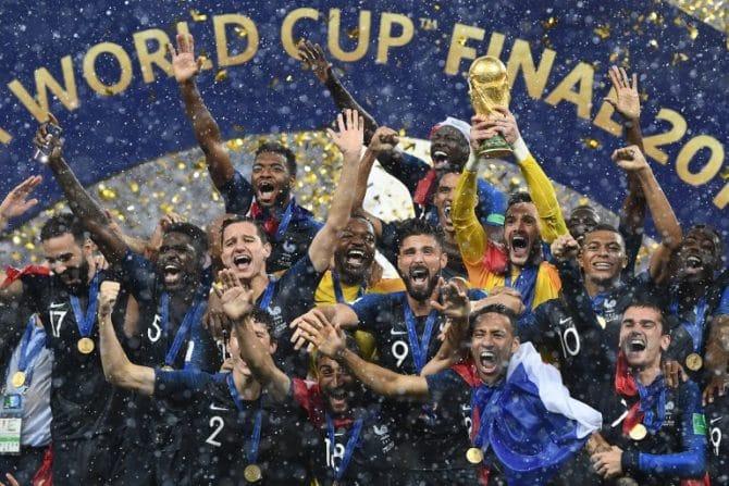 Frankreich ist durch ein 4:2 gegen Kroatien Fußball Weltmeister 2018! / AFP PHOTO / FRANCK FIFE