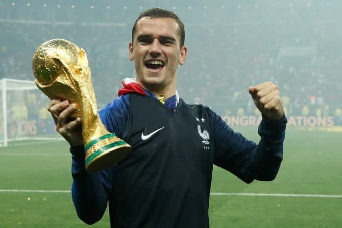 Antoine Griezmann wird Weltmeister 2018! / AFP PHOTO / FRANCK FIFE / AFP PHOTO / Odd ANDERSEN