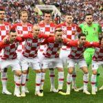 Die Kroatische Startaufstellung im WM-Finale 2018 / AFP PHOTO / FRANCK FIFE