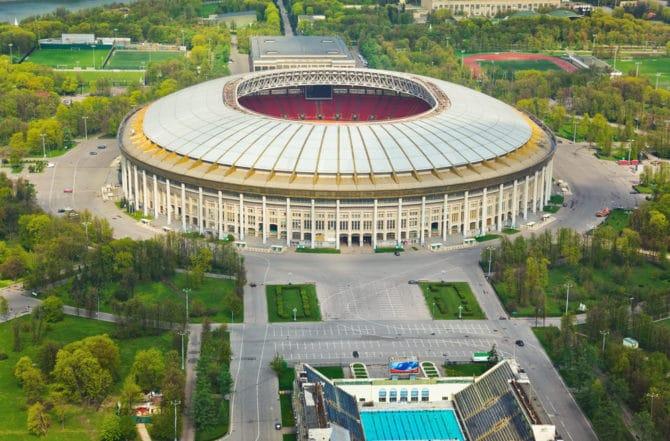 Das Luschniki Stadion in Moskau - hier wird heute der neue Weltmeister 2018 gekürt (Foto Shutterstock)