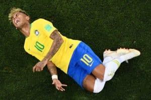 Fußball heute am 02.07.2018 WM Viertelfinale: Neymar ist Superstar und Schauspieler zugleich. Wird er heute seine Selecao ins WM-Viertelfinale schießen? / AFP PHOTO / Jewel SAMAD