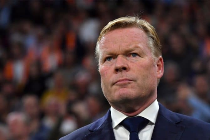 Niederlande coach Ronald Koeman (Photo by EMMANUEL DUNAND / AFP)