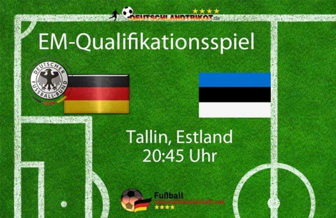 Länderspiel Deutschland gegen Estland abends am 13.10.2019 in Tallin, Estland.