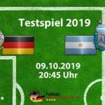 Vorschau Länderspiel Deutschland gegen Argentinien am 09.10.2019 (Update!)