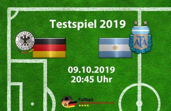 Länderspiel Deutschland gegen Argentinien am 9.10.2019 in Dortmund