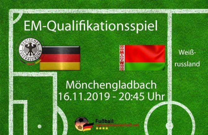 EM Qualifikationsspiel gegen Weissrussland am Samstag Abend.