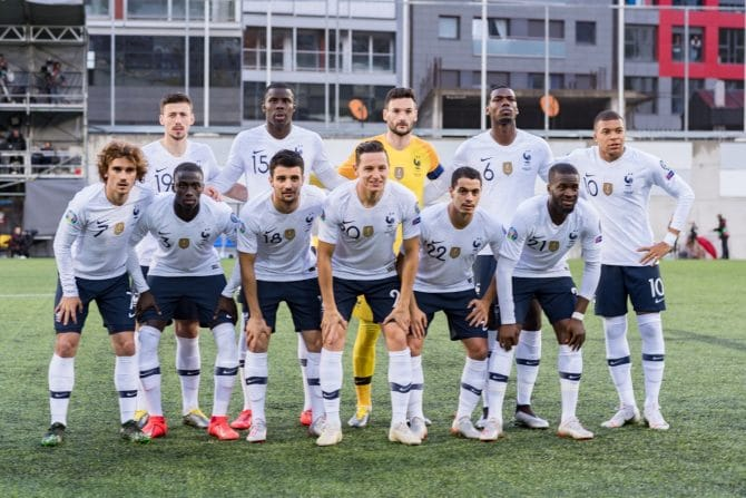 Die Nationalmannschaft von Frankreich 2020 (Foto Shutterstock)