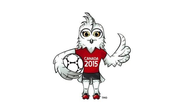 Shuéme, das junge Schneeeulen-Weibchen und offizielles Maskottchen der FIFA Frauen-Weltmeisterschaft Kanada 2015™