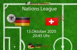 Länderspiel Deutschland gegen die Schweiz am 13.Oktober 2020