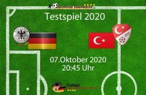 Länderspiele Deutschland gegen die Türkei am 07.Oktober 2020