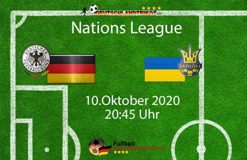 Länderspiel Deutschland gegen die Ukraine am 10.Oktober 2020