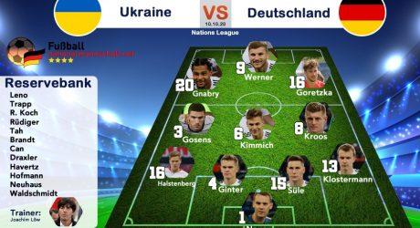 Nations League Länderspiel Deutschland – Ukraine heute * Aufstellung & Kader * ARD Livestream (Update)