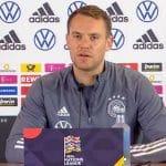 DFB Pressekonferenz Länderspiel gegen Spanien mit Bundestrainer Löw und Manuel Neuer