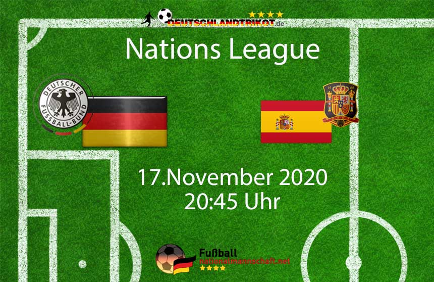 Länderspiel Deutschland gegen Spanien am 17.November 2020