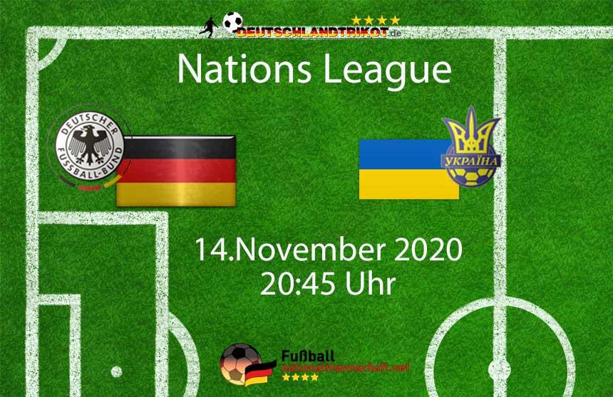 Deutschland gegen die Ukraine am 14.11.2020 um 20:45 Uhr