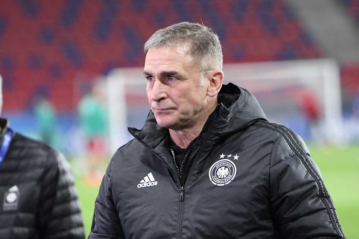 Fußball heute: U21 Bundestrainer Stefan Kuntz bei der UEFA U21 EURO am 24.März 2021- ATTILA KISBENEDEK / AFP