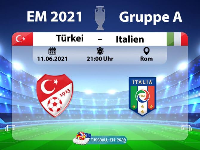 Türkei gegen Italien heute Abend um 21 Uhr (ARD live)