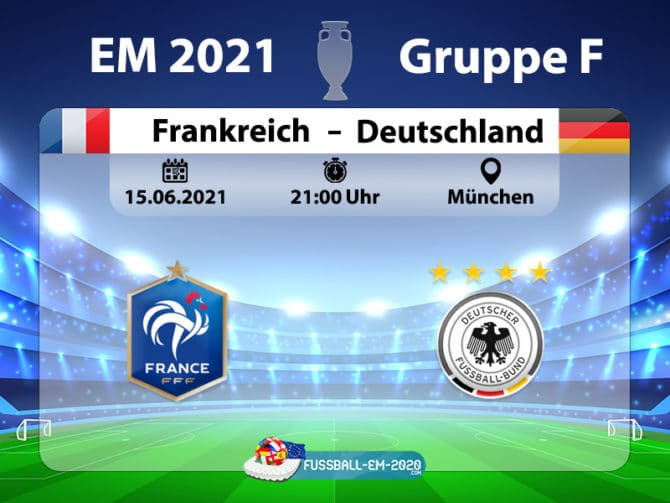 Frankreich gegen Deutschland am 15.6.2021