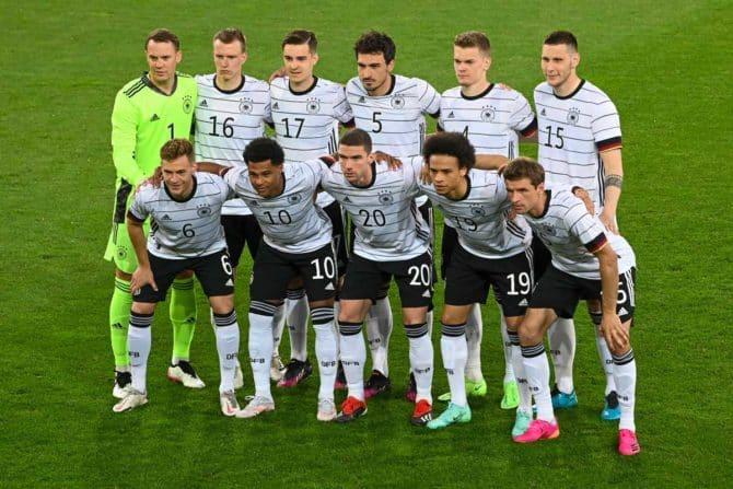 Fußball heute: Das war die deutsche Startaufstellung gegen Dänemark am 2.Juni 2021 in Innsbruck (Foto AFP)