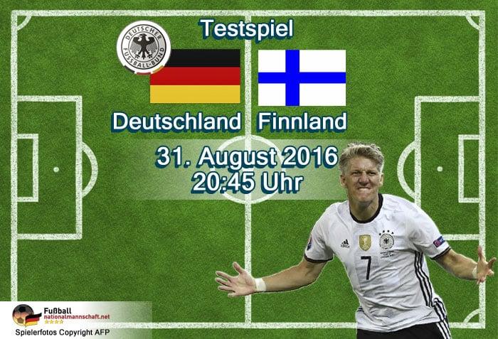 Länderspiel Deutschland - Finnland