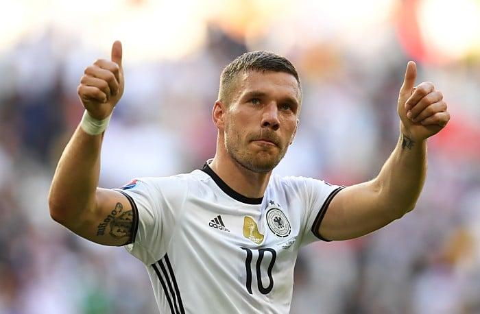 Lukas Podolski wird gegen England sein 130. und somit letztes Länderspiel absolvieren! (Foto AFP)